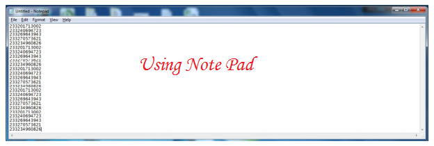 Note pad--sms