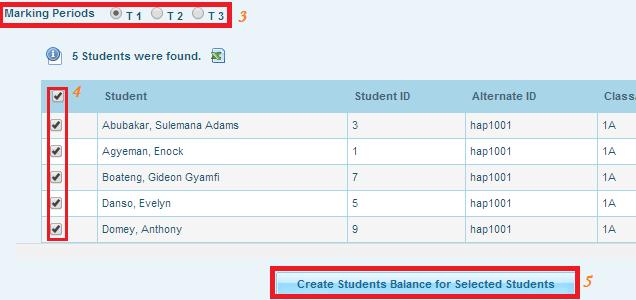 Student Balace