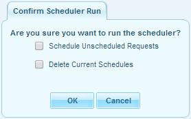 run schedule